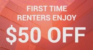 $50 off Portable Storage Rentals
