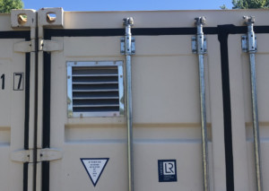 modify container louvered vents