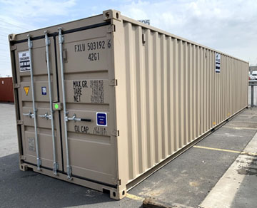 rent 40 foot ft steel container new jersey