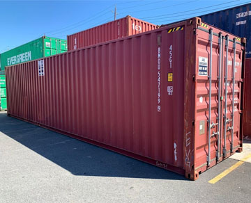 rent 40 foot ft high cube steel container
