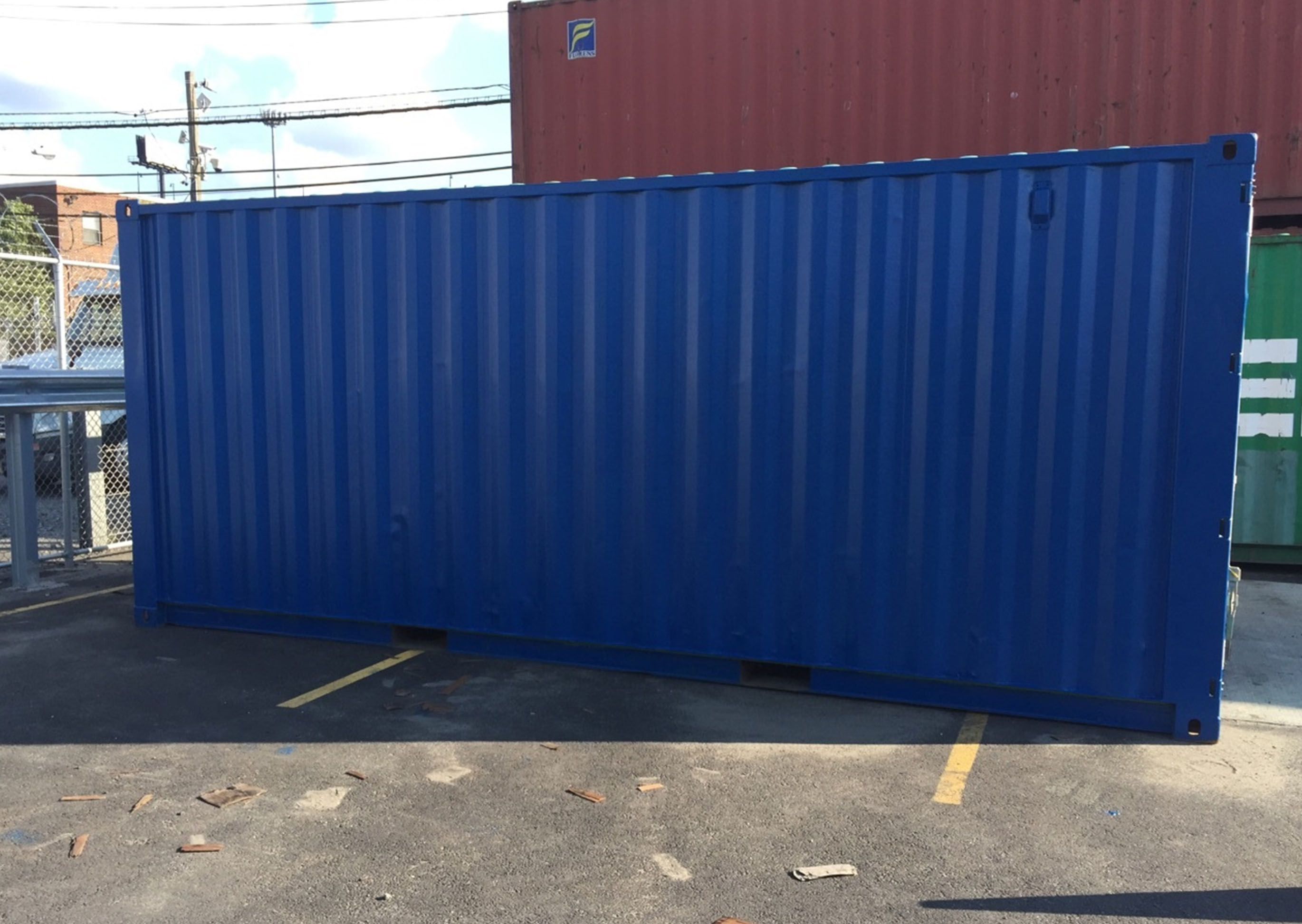 steel container painted modification