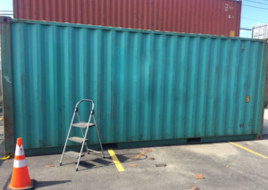 painted steel container modification
