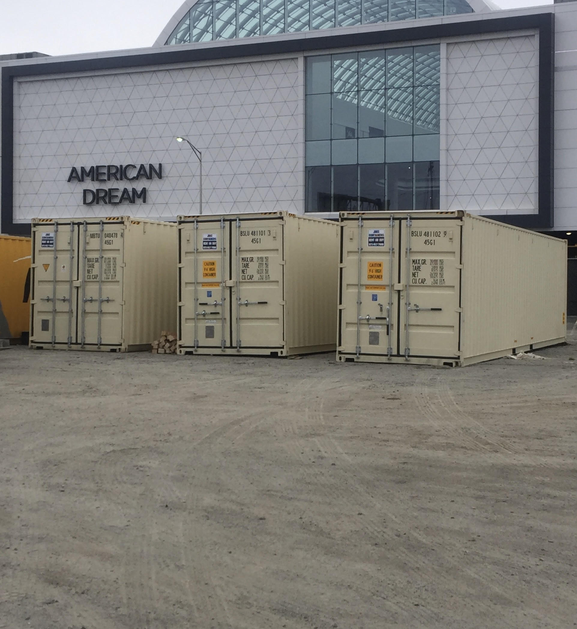 Construction Site Storage Containers