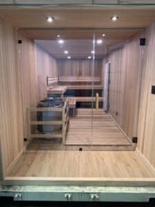 modified container sauna